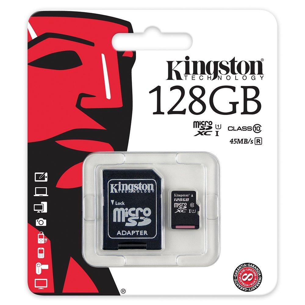 MicroSD Kingston 128GB Classe 10